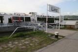 Leaving the dock in Linz