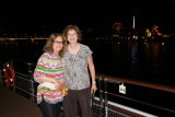 Sharon and Jane on top deck