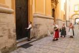 Local ladies entering the church