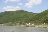 Wachau valley-Aggstein Castle ruins on 960' above Danube