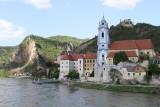 Arriving in Durnstein-15th century parish church