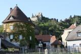 Durnstein castle view from the village