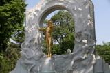 Johann Strauss statue in Vienna City Park
