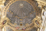 Jesuit Church dome interior-Fresco is painted on a flat ceiling!