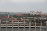 Bratislava Castle in distance