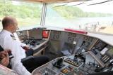 Captain Vitalyi at the helm