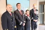 Captain Vitalyi, Hotel Manager Zsolt, Matre d' Hotel Marta and Program Director Marek