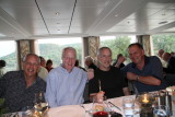 Howard, Mike, Sid and Gary at dinner