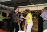Jane and Sharon dancing in the lounge