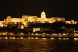 Buda Castle as we arrive in Budapest