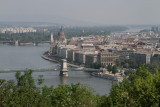 Chain Bridge, Parliament and the Viking Odin on the Danube