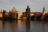 Sunset on the Vltava