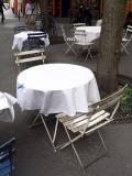 Ah...the Parisian cafe chairs and table