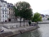 View of our picnic spot from the bridge - Ile de la Cite