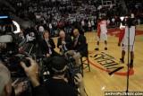 CBS Sports announcer Steve Kerr, Verne Lundquist and Clark Kellogg
