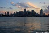 Sunset on the Miami skyline