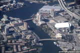 Aerial of the St. Pete Times Forum in Tampa, FL