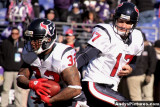 Houston Texans QB Jake Delhomme and RB Derrick Ward