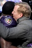 Baltimore Ravens LB Ray Lewis with NFL Commissioner Roger Goodell