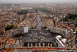 View of Vatican City and Rome from the top of St. Peter's Basilica
