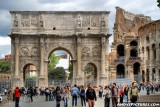 The Arch of Constantine and the Coliseum