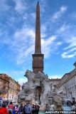 Bernini's Four Rivers Fountain - Piazza Navona
