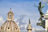 Victor Emmanuel Monument, Trajan's Column and the Church of Holy Name of Mary  - Rome, Italy