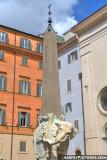 Bernini's Elephant Obelisk, Piazza Minerva - Rome, Italy