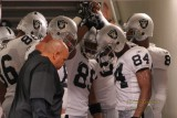 Oakland Raiders receivers huddle