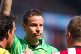 Balázs Dzsudzsák receives a yellow card