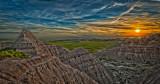 July 2011 - Landscapes - Badlands Sunset - Ray Rosewall