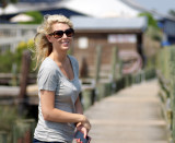 Sarah at Shem Creek