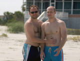Brothers Dan and Tim at Sullivan's Island beach