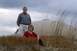 Zuie and Jim at Sullivan's Island beach