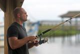 Tim fishing at Shem Creek