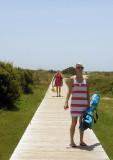 On the walk to the beach at Sullivan's Island