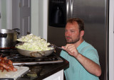 Cabbage cooks for galuska