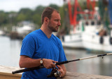 Dan  fishing at Shem Creek