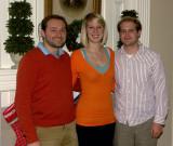 Dan, Sarah, and Tim on Christmas day 2007