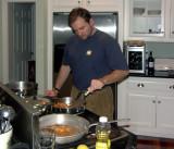 Dan preparing dinner