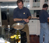 Crime in motion, Dan adds sauce to his soup