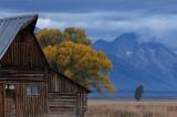 tetons and barn...