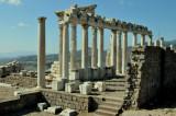 Acropolis ruins in Bergama, Turkey