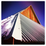 Winter at the Meyer's Barn, Foresta (Yosemite), California