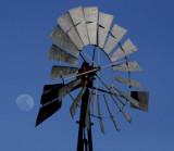 Windmill and Moon along Chorro Road