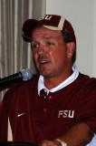 Coach Jimbo Fisher spoke at the Tallahassee QB Club Kick Off