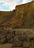 Don't look up! Erosion at Widemouth Bay
