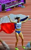400 metre Bronze Medalist Zuzana Hejnova�.