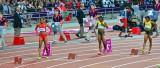 Womens 200 metres start.