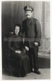 Margaret & Harry Nottger in Salvation Army uniform, sent to Meggie, Harry's sister in Huddersfield
